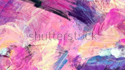 Canvastavlor Ljusa konstnärliga stänk. Abstrakt målning färg textur. Modernt futuristiskt mönster. Flerfärgad dynamisk bakgrund. Fractalkonstverk för kreativ grafisk design.