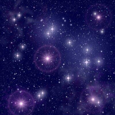 Canvastavlor Ljusa stjärnor i rymden