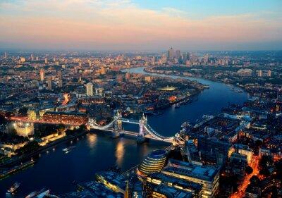Canvastavlor London natt