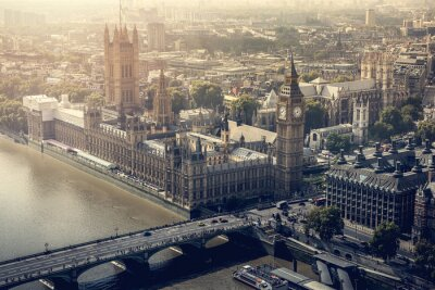 Canvastavlor London stad Flygfoto