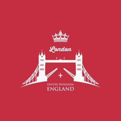 Canvastavlor London Tower Bridge symbol