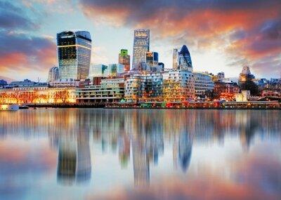 Canvastavlor Londons silhuett