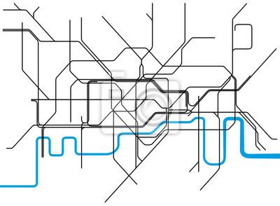 Londons Tunnelbana Karta Canvastavlor Pa Vagg Tavlor Flyga Bat