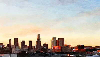 Canvastavlor Los Angeles