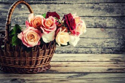 Canvastavlor Lovely Rose blommor