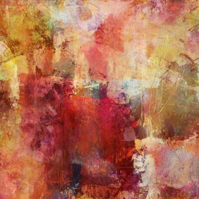 Canvastavlor malerei Mischtechnik herbstfarben