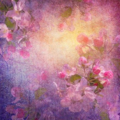 Canvastavlor Målning stil våren blom- konst