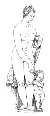 Canvastavlor Mamma och barn