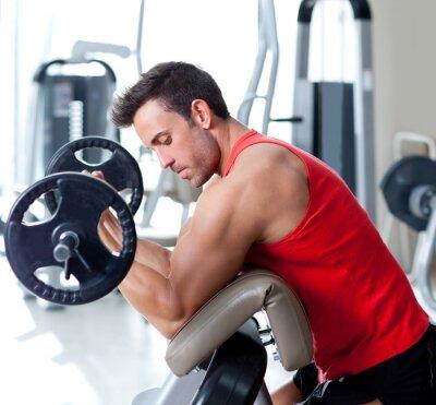 Canvastavlor man med styrketräning på idrott gym