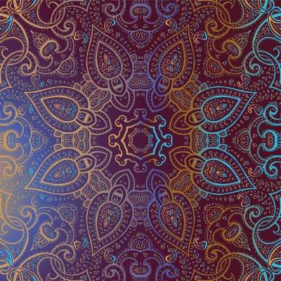 Canvastavlor Mandala. Indiska dekorativa mönster.