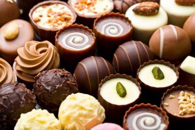 Canvastavlor mängd chokladpraliner