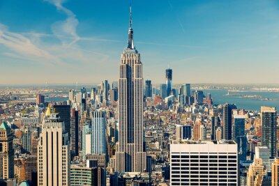 Canvastavlor Manhattan Flygfoto
