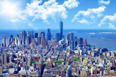 Canvastavlor Manhattans skyline