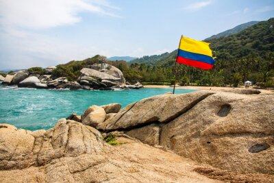 Canvastavlor Maravilloso Parque Nacional Tayrona (Colombia)