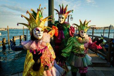 Canvastavlor Maschera karneval di Venezia