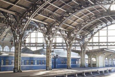 Canvastavlor Metal tågstation