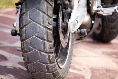 Canvastavlor metalldelar på en motorcykel