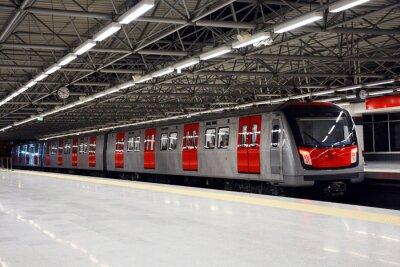 Canvastavlor Metro tåget vid tunnelbanestationen