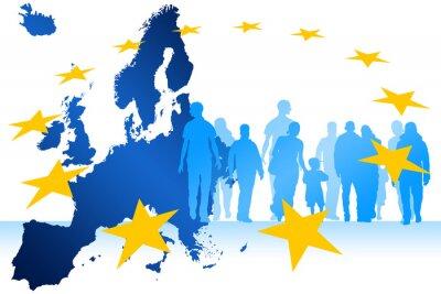 Canvastavlor migranter Europa