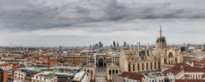 Canvastavlor milano panoramica