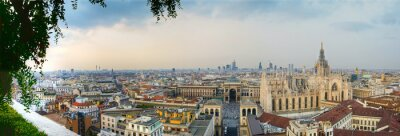 Canvastavlor Milano Panoramica centro
