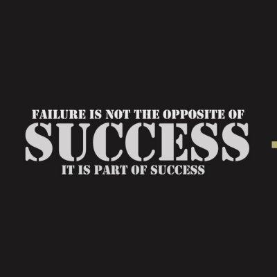 Canvastavlor Misslyckande är inte motsatsen till framgång. Det är en del av framgången.