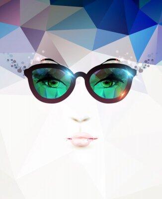 Canvastavlor mode kvinna med glasögon