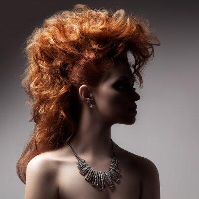 Canvastavlor Mode Porträtt av lyx kvinna med smycken.