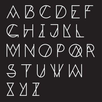 Canvastavlor Modern geometrisk alfabetet
