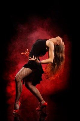 Canvastavlor modern stil dansare poserar på mörk bakgrund