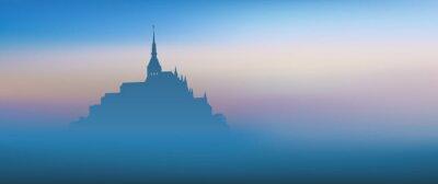 Canvastavlor Mont St Michel - panoramique - Aube