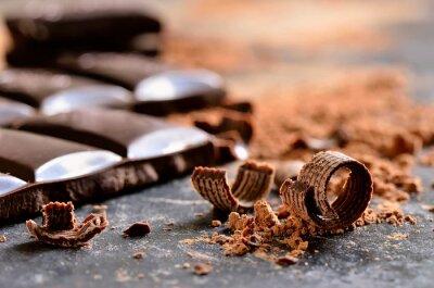 Canvastavlor Mörk choklad