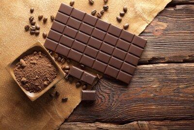 Canvastavlor Mörk choklad, kakao och kaffe korn