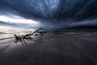 Canvastavlor Mörka moln över havet