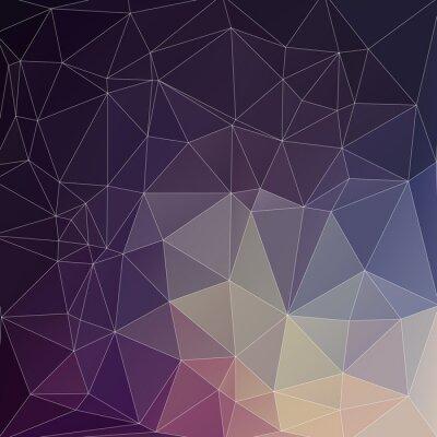 Canvastavlor Mosaik Polygon bakgrund