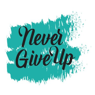 Canvastavlor Motivational quotes. Never Give Up