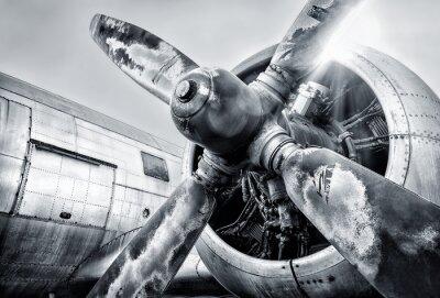 Canvastavlor motor av ett flygplan