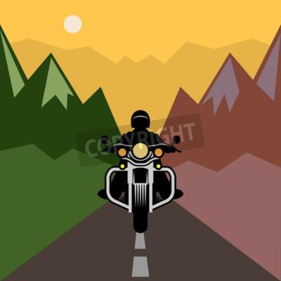 Canvastavlor Motorcykel äventyr, vektor illustration