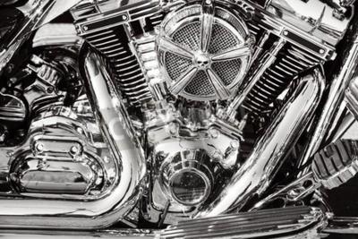 Canvastavlor Motorcykel med kromade delar