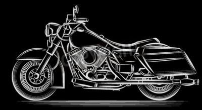 Canvastavlor motorcykel vektor