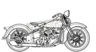 Canvastavlor Motorcykel vintage