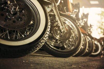 Canvastavlor Motorcyklar i rad