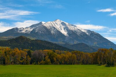 Canvastavlor Mount Sopris Elk Mountains Colorado - Fall colors