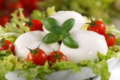 Canvastavlor mozzarella di bufala italiana con pomodorini di Pachino