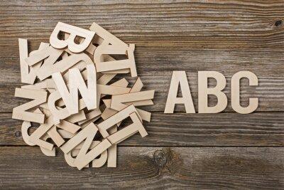 Canvastavlor Mucchio di lettere ABC