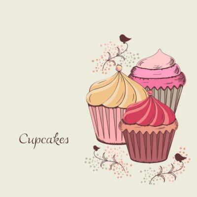 Canvastavlor muffindesign