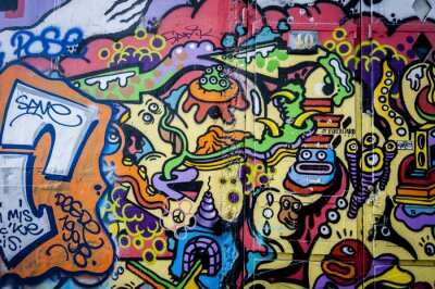 Canvastavlor Mur de graffiti kul