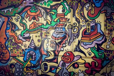 Canvastavlor Mur de graffitis