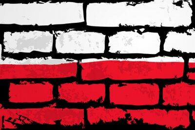 Canvastavlor mur flaga polska WEKTOR