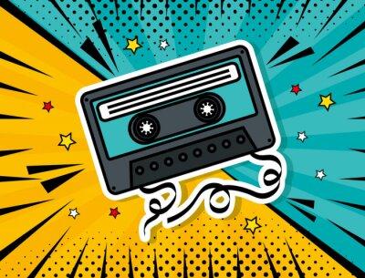 Canvastavlor music cassette pop art style vector illustration design